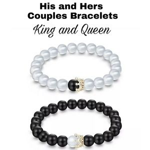 Jewelry - His and Hers King Queen Bracelet Set
